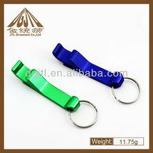 Mini beer bottle opener keychain