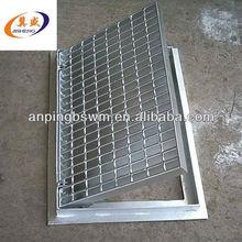 light structure galvanized concrete floor drain