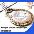 Peças da motocicleta roda dentada chain, tv peças de reposição, novo produto da motocicleta chain drive