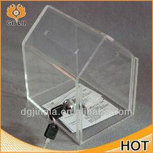 small acrylic donation box,acrylic house shaped donation box