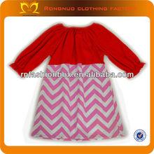 2014 child boutique colorful trendy model chevron lovely girl dress