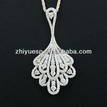 peacok 925 sterling silver elephant pendant