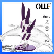 Fashion Colored Style Dolphin Handle 3pcs Knife Set Ceramic