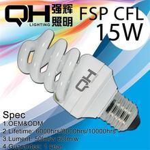 Energy Save 15w Spiral CFL Light E27 Lamp Holder