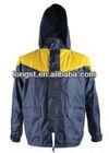 High visibility rain jacket, yellow waterproof rain jacket