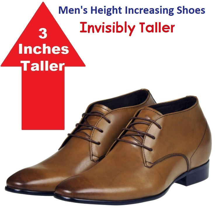 Mens Height Increasing Shoes 3.2 inch taller high heel Elevator italian shoes