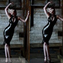 Ship US3100 Dropship venta al por mayor negro Sexy falda del club de baile traje