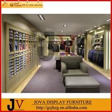 Fashion lighted clothes shop decoration design for brand garment shop