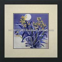 36014-Orchids Under the Blue Moon--Susho, King Silk Art 100% Handmade Silk Embroidery
