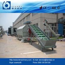 PET bottle crushing washing drying recycling line