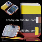 Wallet pu leather cell phone case for samsung galaxy s3