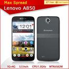 MTK6582m Quad Core 5.5inch IPS 1GB/4GB dual camera dual sim card 3G android 4.2 mobile phone lenovo a850