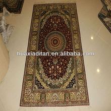 Pure plain silk carpet, handmade silk rugs carpets