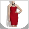 bandage dresses strapless red party dress 2014