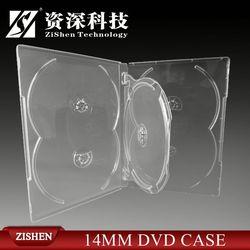 4 disc dvd case half round pu cd/dvd case