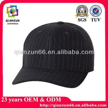 Navy Blue Curve brim Baseball Cap Stripe Fabric