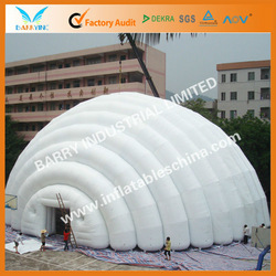 White inflatable party tents for outdoor activities
