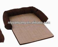 Square orthopedic dog pet bed poly rattan dog bed wooden dog bed