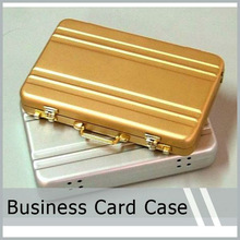 Mini Aluminum Password Briefcase Business Card Case Credit Bank Card Holder Coin Case Silver Exquisite