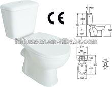 Elegant Bathroom Ceramic White Color WC Toilet with CE