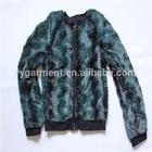 teenage fashion long sleeve fake fur clothing
