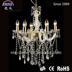 5 light golden crystal ceiling lighting mounting bracket for wedding (NS-120201)