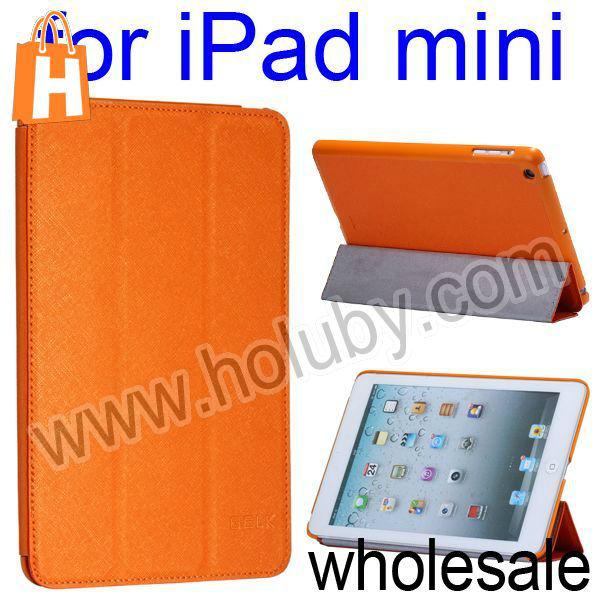 Ultrathin Cross Pattern Stand Smart Wake Up/Sleep Leather Flip Case for iPad Mini/Retina iPad Mini (11 Colors Optional)