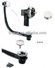 bath tub waste with brass plug control knob,bath drains,bath