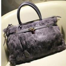cross body handbags shopping tote bag stylish rabbit fur bags with key high quality A148