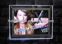 crystal slim led menu light box for advertismant