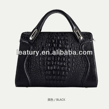France Paris CROCODILE designer leather ladies handbags,2014 EURO ITALY leather womens bag,popular New York black fashion bags
