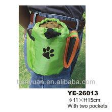 Pet treated training bags/dog travel bowl