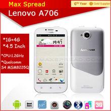 Lenovo A706 MSM8225Q Quad Core Android 4.1 Smartphone 3G GPS 4.5'' original phone