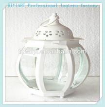 Round colorful moroccan lantern candle holder hanging lantern white lantern