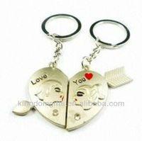 Sweet Heart Metal Keychain