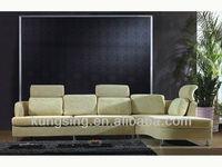 corner sofa with adjustable headrest