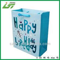 soft cover die cut handle paper bag Shenzhen factory