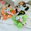 1-293 complementos de ropa capullo de rosa de flores de raso para los niños