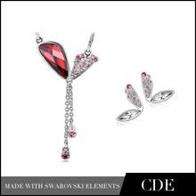 Wholesale Fashion delicate diamond necklace sets for women