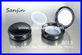 A prueba de agua líquido polvo compacto incorporado de la caja - selladas de plástico caja de cosméticos caja de plástico redondo de polvo cosmético de contenedores