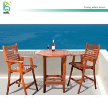 Outdoor furniture Teak High chair Teak table Balcony Garden set