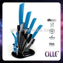 4 Pcs Ceramic Knife Set with Peeler and Acrylic Block