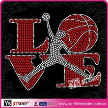 2013 Guangzhou Manufactuer LOVE Basketball Rhinestone Motif