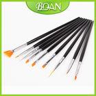 Boqian Factory Direct 9pcs Nail Art Cheap Paint Brushes Set