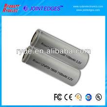 LiFePO4 3.2V 1100mAh rechargeable Battery