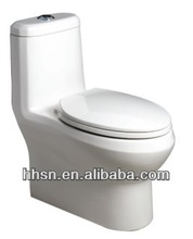 One-piece commode