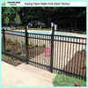Tubular powder coating welded decorative metal fence