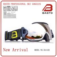 2014 new design anti-fog and anti-scratch ski snow goggles