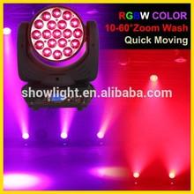 Zoom Moving Yoke,19PCS*10W 4 in 1 LED Aura Wash light