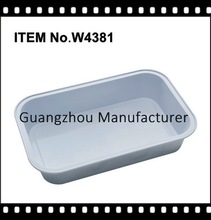 disposable wholesale coated airline food packaging foil container with lid